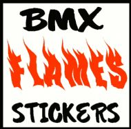 PERSONALISED FLAME BIKE DECALS